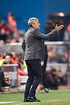 Coach Enrique Setien Solar of UD Las Palmas reacts during their Copa del Rey 2016-17 Round of 16 match between Atletico de Madrid and UD Las Palmas at the Vicente Calderón Stadium on 10 January 2017 in Madrid, Spain. Photo by Diego Gonzalez Souto / Power Sport Images