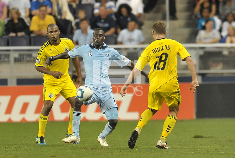 C.J Sapong (17) Sporting KC forward in action... Sporting Kansas City defeated Columbus Crew 2-1 at LIVESTRONG Sporting Park, Kansas City, Kansas.