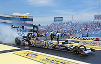 Jun. 3, 2012; Englishtown, NJ, USA: NHRA top fuel dragster driver Shawn Langdon during the Supernationals at Raceway Park. Mandatory Credit: Mark J. Rebilas-