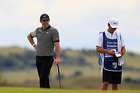 Rory McIlroy (NIR) on the 3rd green during Round 1 of the Aberdeen Standard Investments Scottish Open 2019 at The Renaissance Club, North Berwick, Scotland on Thursday 11th July 2019.<br /> Picture:  Thos Caffrey / Golffile<br /> <br /> All photos usage must carry mandatory copyright credit (© Golffile | Thos Caffrey)