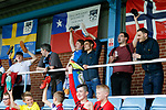 Shoes off if you love Yorkshire. Yorkshire v Parishes of Jersey, CONIFA Heritage Cup, Ingfield Stadium, Ossett. Yorkshire's first competitive game. The Yorkshire International Football Association was formed in 2017 and accepted by CONIFA in 2018. Their first competative fixture saw them host Parishes of Jersey in the Heritage Cup at Ingfield stadium in Ossett. Yorkshire won 1-0 with a 93 minute goal in front of 521 people. Photo by Paul Thompson