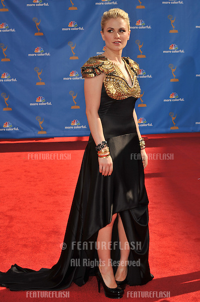 Anna Paquin at the 2010 Primetime Emmy Awards at the Nokia Theatre L.A. Live in downtown Los Angeles..August 29, 2010  Los Angeles, CA.Picture: Paul Smith / Featureflash