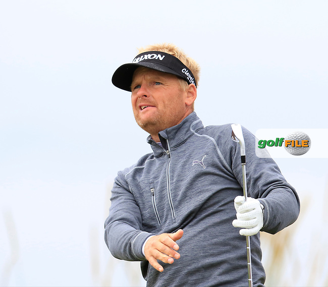 Soren Kjeldsen (DEN) tees off the 3rd tee during Saturday's Round 3 of the 145th Open Championship held at Royal Troon Golf Club, Troon, Ayreshire, Scotland. 16th July 2016.<br /> Picture: Eoin Clarke | Golffile<br /> <br /> <br /> All photos usage must carry mandatory copyright credit (&copy; Golffile | Eoin Clarke)