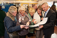 Viewing plans from left are Helen Owen, Joan Ratcliffe, County Councillor Margaret Astle, Mary Maxfield and County Councillor Ben Adams