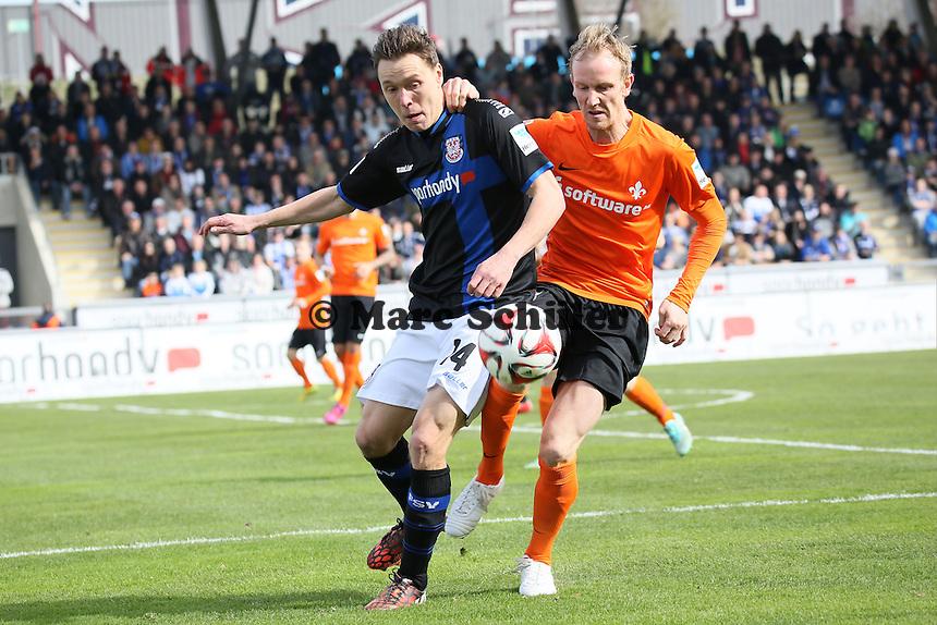 Alexander Bittroff (FSV) gegen Jan Rosenthal (SV 98) - FSV Frankfurt vs. SV Darmstadt 98, Frankfurter Volksbank Stadion