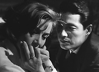 Hiroshima Mon Amour (1959) <br /> Eiji Okada and Emmanuelle Riva<br /> *Filmstill - Editorial Use Only*<br /> CAP/KFS<br /> Image supplied by Capital Pictures