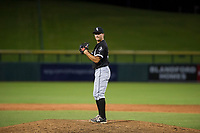 AZL White Sox relief pitcher Vince Arobio (38) prepares to deliver a pitch against the AZL Cubs on August 13, 2017 at Sloan Park in Mesa, Arizona. AZL White Sox defeated the AZL Cubs 7-4. (Zachary Lucy/Four Seam Images)