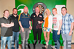 "Professional Darts: Professional Darts player Andy ""The Hammer"" Hamilton pictured with local darts players Danny Flavin, Brian Leahy, Brian Carty, Tracey Grimes,  Hostess,  Dave Elston & Jamie Grimes at the Kingdom Bar, Listowel on Sunday evening last."