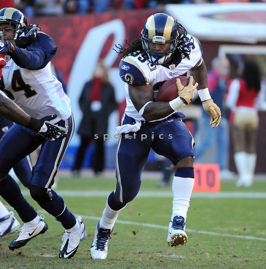 STEVEN JACKSON, of the St. Louis Rams, in action during the Rams game against the San Francisco 49ers on December 4, 2011 at Candlestick Park in San Francisco, CA. The 49ers beat the Rams 26-0.