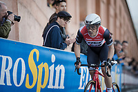 Veteran rider Markel Irizar (ESP/Trek-Segafredo), who is the eldest rider in this Giro, up the San Luca climb<br /> <br /> Stage 1 (ITT): Bologna to Bologna/San Luca (8.2km)<br /> 102nd Giro d'Italia 2019<br /> <br /> ©kramon