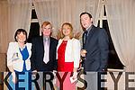 Maureen Foley (Knockanish The Spa), John Foley (Knockanish, The Spa), Mary Fleming (Killarney), Jason Fleming (Killarney) at Kerry IFA 70th. Anniversary Dinner at Ballygarry House hotel on Friday