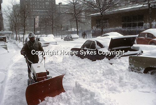 New York Manhattan, Snow.   Feb 1979