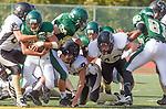 Manhattan Beach, CA 10/24/13 - unidentified Peninsula player(s) in action during the Palos Verdes Peninsula and Mira Costa Junior Varsity Football game at Mira Costa High School.
