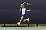 13 May 2016: Michigan's Runhao Hua (CHN). The University of Michigan Wolverines played the East Tennessee State University Buccaneers at the Wake Forest Tennis Center in Winston-Salem, North Carolina in a 2015-16 NCAA Division I Men's Tennis Tournament First Round match. Michigan won the match 4-3.