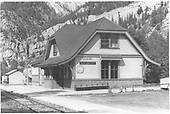Depot at Ouray.<br /> D&amp;RGW  Ouray, CO