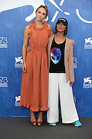 Suki Waterhouse and Ana Lily Amirpour attends a photocall for 'The Bad Batch' during the 73rd Venice Film Festival at Palazzo del Casino on September 6, 2016 in Venice, Italy.<br /> CAP/GOL<br /> &copy;GOL/Capital Pictures /MediaPunch ***NORTH AND SOUTH AMERICAS ONLY***