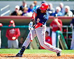 4 March 2010: Washington Nationals' outfielder Roger Bernadina in action during the Nationals-Astros Grapefruit League Opening game at Osceola County Stadium in Kissimmee, Florida. The Houston Astros defeated the Nationals split-squad 15-5 in Spring Training action. Mandatory Credit: Ed Wolfstein Photo