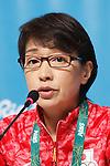 Seiko Hashimoto (JPN), <br /> AUGUST 21, 2016 : Seiko Hashimoto, Yasuhiro Yamashita, Yuji Takada attend a press conference at Main Press Center during the Rio 2016 Olympic Games in Rio de Janeiro, Brazil. <br /> (Photo by Sho Tamura/AFLO SPORT)