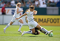 LA Sol's Manya Makoski tackles FC Gold Pride's Erika Arakawa. The LA Sol defeated FC Gold Pride of the Bay Area 1-0 at Home Depot Center stadium in Carson, California on Sunday April 19, 2009.  .
