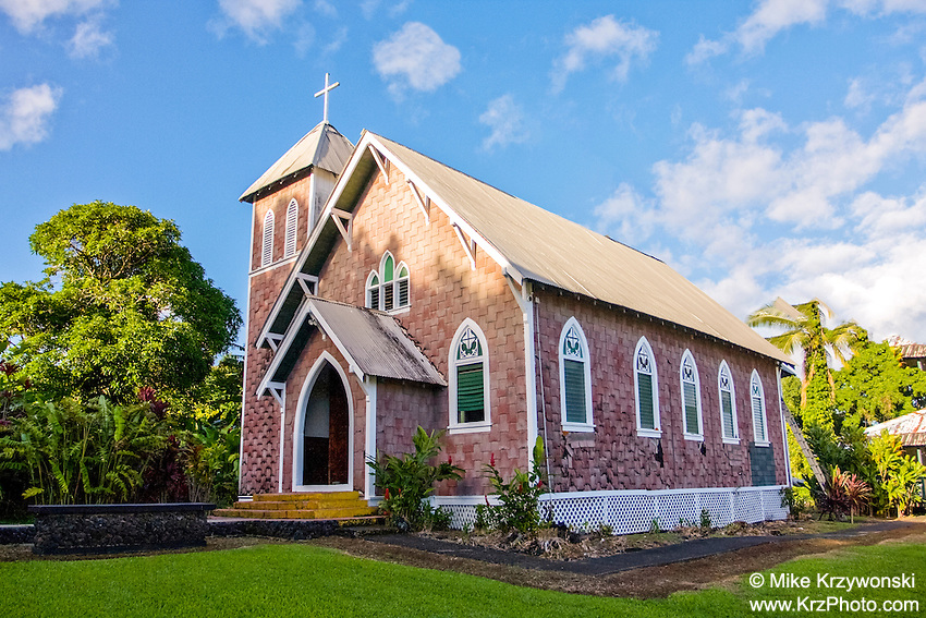 St. Gabriel's Church on the Wailua Peninsula on the Road to Hana, Maui