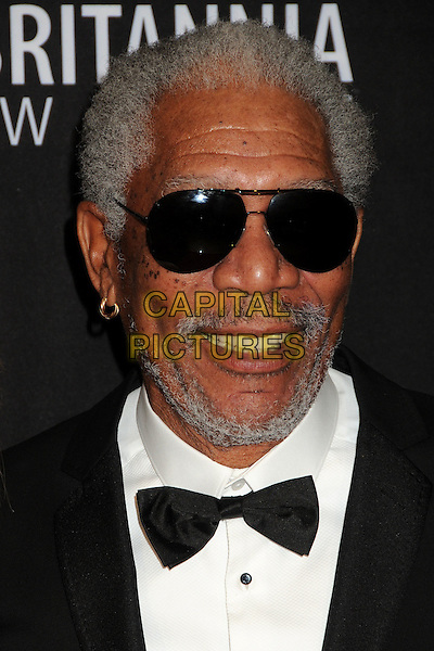 Morgan Freeman.BAFTA Los Angeles 2011 Britannia Awards held at the Beverly Hilton Hotel, Beverly Hills, California, USA..November 30th, 2011.headshot portrait black white bow tie sunglasses shades  stubble facial hair.CAP/ADM/BP.©Byron Purvis/AdMedia/Capital Pictures.