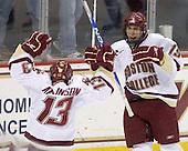 Cam Atkinson (BC - 13), Chris Kreider (BC - 19) - The Boston College Eagles defeated the Northeastern University Huskies 5-1 on Saturday, November 7, 2009, at Conte Forum in Chestnut Hill, Massachusetts.