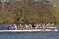 032 .ULO-Crockford .IM2.8+ .Univ of London BC. Wallingford Head of the River. Sunday 27 November 2011. 4250 metres upstream on the Thames from Moulsford railway bridge to Oxford Universitiy's Fleming Boathouse in Wallingford. Event run by Wallingford Rowing Club..