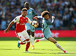Arsenal's Alex Oxlade-Chamberlain tussles with Manchester City's Leroy Sane during the FA Cup Semi Final match at Wembley Stadium, London. Picture date: April 23rd, 2017. Pic credit should read: David Klein/Sportimage