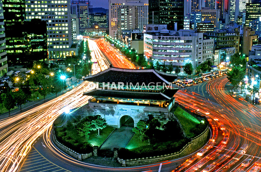 Cidade de Seul, Coréia do Sul. 1999. Foto de Ricardo Azoury.
