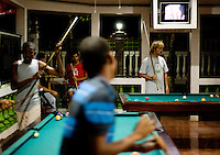 The local billiards scene in Little Corn Island, Nicaragua in April, 2009.