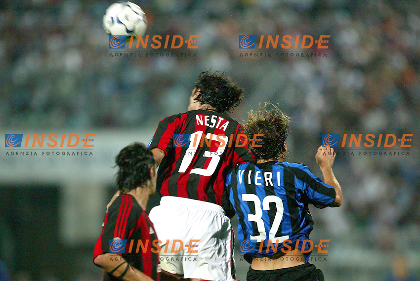 Ancona 12/08/2003<br /> Trofeo Tim - Tim Cup <br /> Alessandro Nesta (Milan) and Christian Vieri (Inter)