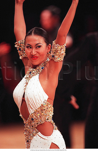 UK Ballroom Dancing Championships, Bournemouth 970123 Photo:Mike King/Action Plus...File 24 Neg 29.1997.ballroom.expression.costume.dance.dancing.