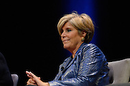 January 12, 2012  (Washington, DC)  Author and financial advisor Suze Orman participated in a panel discussion on restoring America's prosperity, moderated by radio and television talk show host Tavis Smiley, at the George Washington University Lisner Auditorium in Washington.  (Photo by Don Baxter/Media Images International)
