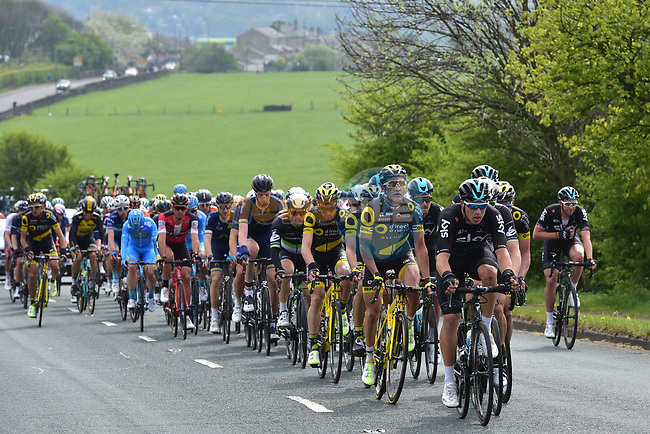 Thomas Voeckler (FRA) Direct Energie on front of the peloton during Stage 3 of the Tour de Yorkshire 2017 running 194.5km from Bradford/Fox Valley to Sheffield, England. 30th April 2017. <br /> Picture: ASO/P.Ballet | Cyclefile<br /> <br /> <br /> All photos usage must carry mandatory copyright credit (&copy; Cyclefile | ASO/P.Ballet)