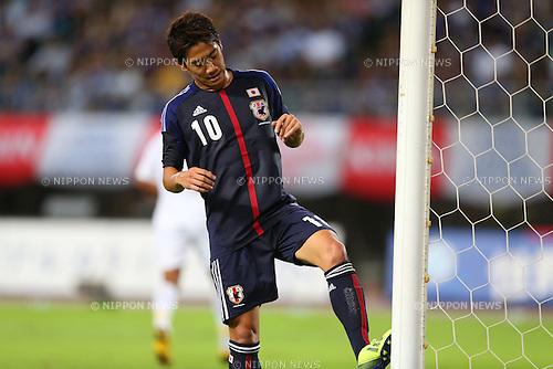 Shinji Kagawa (JPN),<br /> SEPTEMBER 6, 2013 - Football / Soccer :<br /> Kirin Challenge Cup 2013 match between Japan 3-0 Guatemala at Nagai Stadium in Osaka, Japan. (Photo by Kenzaburo Matsuoka/AFLO)