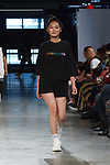 Model walks runway in an outfit from the Jojo Spring Summer 2020 collection at City Point, on October 12, 2019, during Fashion Week Brooklyn Spring Summer 2020.