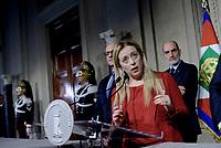 Roma, 4 Aprile 2018<br /> Giorgia Meloni<br /> Primo giorno di Consultazioni per la formazione del Governo
