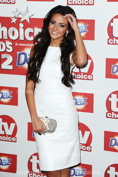 Michelle Keegan arriving for the 2012 TVChoice Awards, at the Dorchester Hotel, London. 10/09/2012. Picture by:  Steve Vas / Featureflash