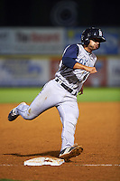 Brooklyn Cyclones second baseman Vincent Siena (11) running the bases during a game against the Tri-City ValleyCats on September 1, 2015 at Joseph L. Bruno Stadium in Troy, New York.  Tri-City defeated Brooklyn 5-4.  (Mike Janes/Four Seam Images)