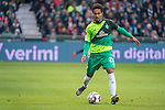 10.02.2019, Weser Stadion, Bremen, GER, 1.FBL, Werder Bremen vs FC Augsburg, <br /> <br /> DFL REGULATIONS PROHIBIT ANY USE OF PHOTOGRAPHS AS IMAGE SEQUENCES AND/OR QUASI-VIDEO.<br /> <br />  im Bild<br /> <br /> Theodor Gebre Selassie (Werder Bremen #23)<br /> Einzelaktion, Ganzkörper / Ganzkoerper<br /> <br /> Foto © nordphoto / Kokenge