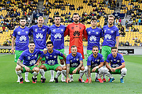 Phoenix Team photo at the A League - Wellington Phoenix v Western United FC at Sky Stadium, Wellington, New Zealand on Friday 21 February 2020. <br /> Photo by Masanori Udagawa. <br /> www.photowellington.photoshelter.com