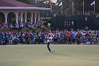 PINEHURST, NC - JUNE 15: Martin Kaymer sinks par putt, and wins by 8 strokes. Scenes from the U.S. Open Championship at Pinehurst, North Carolina on Sunday, June 15, 2014. (Photo by Landon Nordeman)