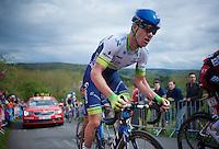 Simon Clarke (AUS/Orica-GreenEDGE) pedals up La Redoute (1650m/9.7%)<br /> <br /> 101th Li&egrave;ge-Bastogne-Li&egrave;ge 2015