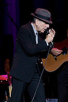 Leonard Cohen performing at Rod Laver Arena, Melbourne, 5 February 2009