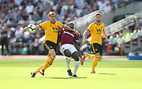 West Ham United's Michail Antonio and Wolverhampton Wanderers' Ryan Bennett<br /> <br /> Photographer Rob Newell/CameraSport<br /> <br /> The Premier League - West Ham United v Wolverhampton Wanderers - Saturday 1st September 2018 - London Stadium - London<br /> <br /> World Copyright © 2019 CameraSport. All rights reserved. 43 Linden Ave. Countesthorpe. Leicester. England. LE8 5PG - Tel: +44 (0) 116 277 4147 - admin@camerasport.com - www.camerasport.com