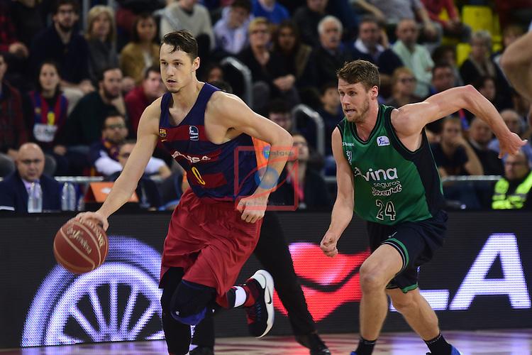 League ACB-ENDESA 2016/2017 - Game: 13.<br /> FC Barcelona Lassa vs Divina seguros Joventut: 79-77.<br /> Markus Eriksson vs Luka Lapornik.