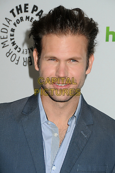 "Matt Davis.PaleyFest 2012 Presents ""The Vampire Diaries"" held at the Saban Theatre. Beverly Hills, California, USA, .10th March 2012.portrait headshot blue shirt .CAP/ADM/BP.©Byron Purvis/AdMedia/Capital Pictures."