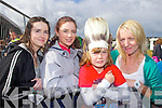 BUST-ING A MOVE: Ciara and Orla O'Connor with Owen and Fiona Enright, Listowel pictured at the Atlantic Music Sessions Festival in Ballybunion on Sunday waiting to see JEDWARD..