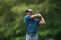 Tiger Woods (USA) plays his second shot on the 8th hole during the 1st round of the 100th PGA Championship at Bellerive Country Club, St. Louis, Missouri, USA. 8/9/2018.<br /> Picture: Golffile.ie | Brian Spurlock<br /> <br /> All photo usage must carry mandatory copyright credit (© Golffile | Brian Spurlock)