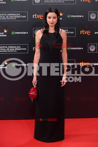 Dafne Fernandez poses before 63rd Donostia Zinemaldia opening ceremony (San Sebastian International Film Festival) in San Sebastian, Spain. September 18, 2015. (ALTERPHOTOS/Victor Blanco) /NortePhoto.com